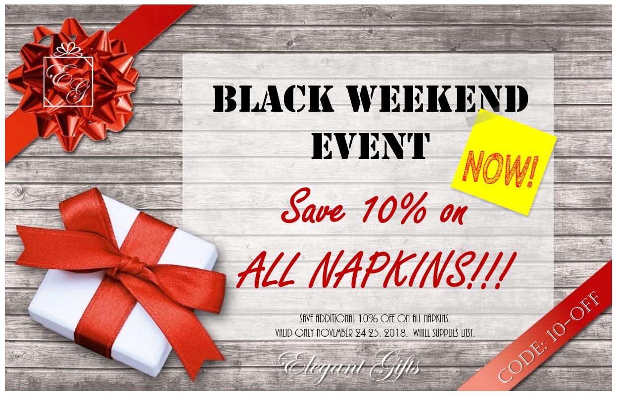 It's BACK – BLACK WEEKEND!
